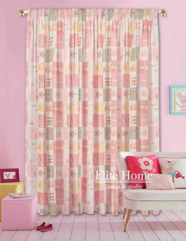Έτοιμη ραμμένη κουρτίνα με τρέσα παιδική ΕΚ-Π07