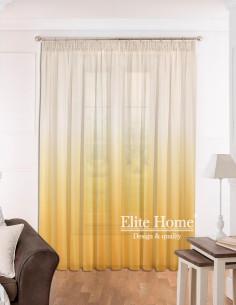 Έτοιμη ραμμένη κουρτίνα με τρέσα (300x280)- Γάζα ντεγκραντέ κίτρινο ημιδιάφανη