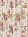 Έτοιμες ραμμένες κουρτίνες με τρέσα (280x280)- Γάζα Φλοράλ Ημιδιάφανη