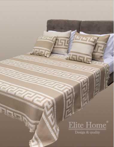Κουβέρτα ριχτάρι σε μπεζ αποχρώσεις δύο όψεων - Διατίθεται σε 7 διαστάσεις