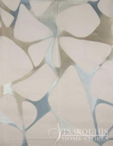 Κουρτίνα - Εσωτερική ντεβορέ οργάντζα με ανάγλυφα γκρι αρζάν μοτίβα