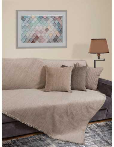 Ριχτάρι Μονόχρωμο χρώμα της άμμου Elite Home Premium Collection - 2 Όψεων 4 διαστάσεις