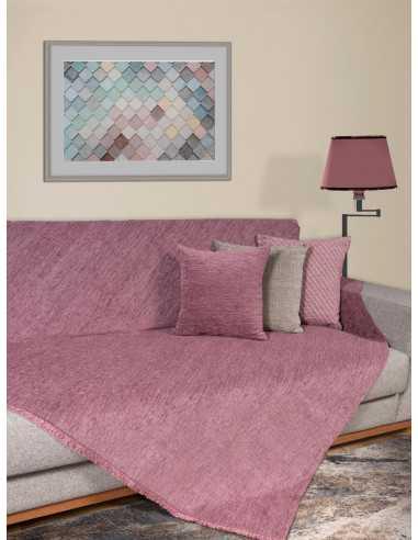 Ριχτάρι μονόχρωμο λιλά Elite Home Premium Collection - 2 Όψεων, 4 διαστάσεις
