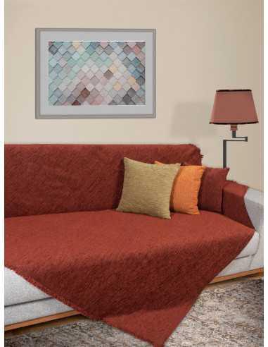Ριχτάρι μονόχρωμο κεραμιδί Elite Home Premium Collection - 2 Όψεων 4 διαστάσεις