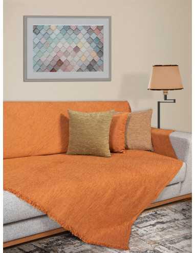 Ριχτάρι μονόχρωμο πορτοκαλί Elite Home Premium Collection - 2 Όψεων 4 διαστάσεις