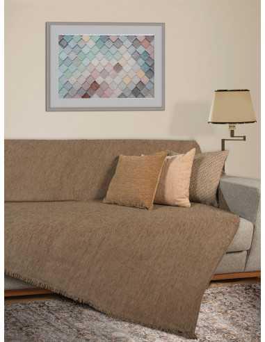 Ριχτάρι μονόχρωμο χρώμα του πούρου Elite Home Premium Collection - 2 Όψεων4 διαστάσεις