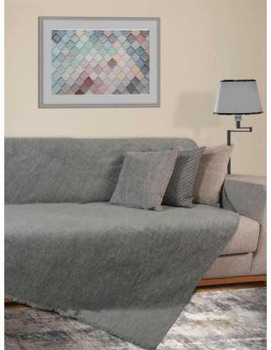 Ριχτάρι μονόχρωμο γκρι Elite Home Premium Collection - 2 Όψεων, 4 διαστάσεις