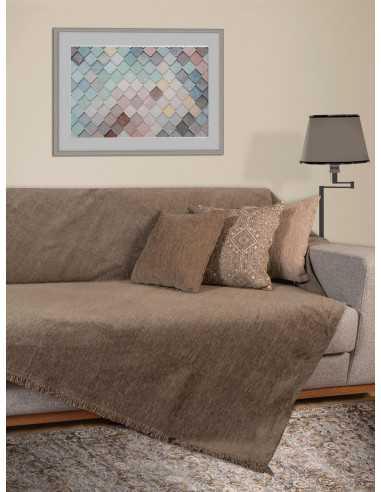Ριχτάρι μονόχρωμο μόκα Elite Home Premium Collection - 2 Όψεων, 4 διαστάσεις