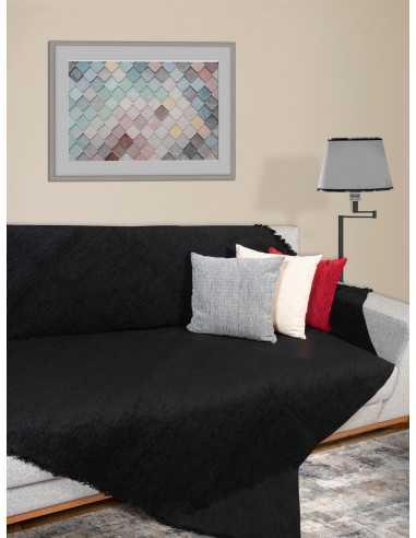 Ριχτάρι μονόχρωμο μαύρο Elite Home Premium Collection - 2 Όψεων 4 διαστάσεις