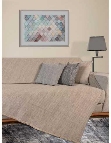 Ριχτάρι μονόχρωμο μπεζ/γκρι Elite Home Premium Collection - 2 Όψεων, 4 διαστάσεις