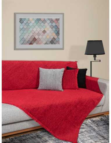 Ριχτάρι μονόχρωμο κόκκινο Elite Home Premium Collection - 2 Όψεων 4 διαστάσεις