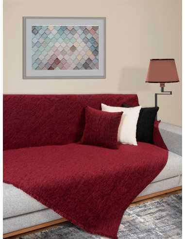 Ριχτάρι μονόχρωμο μπορντό Elite Home Premium Collection - 2 Όψεων 4 διαστάσεις