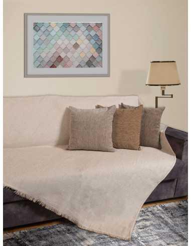 Ριχτάρι μονόχρωμο εκρού Elite Home Premium Collection - 2 Όψεων, 4 διαστάσεις