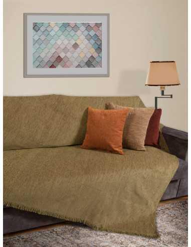 Ριχτάρι μονόχρωμο λαδί Elite Home Premium Collection - 2 Όψεων, 4 διαστάσεις