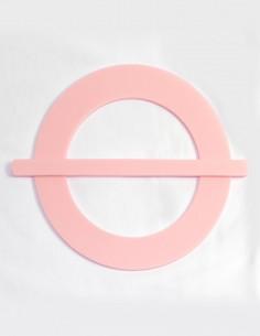 Δέστρα φουρκέτα plexiglass ροζ