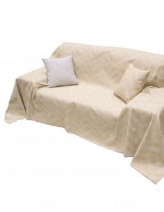 Καλοκαιρινό Βαμβακερό Ριχτάρι με χρυσό Ζικ-Ζακ Elite Home (4 διαστάσεις)
