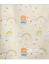 Έτοιμη ραμμένη κουρτίνα με τρέσα παιδική - Λινού Τύπου ματ με σχέδιο αδιάφανη